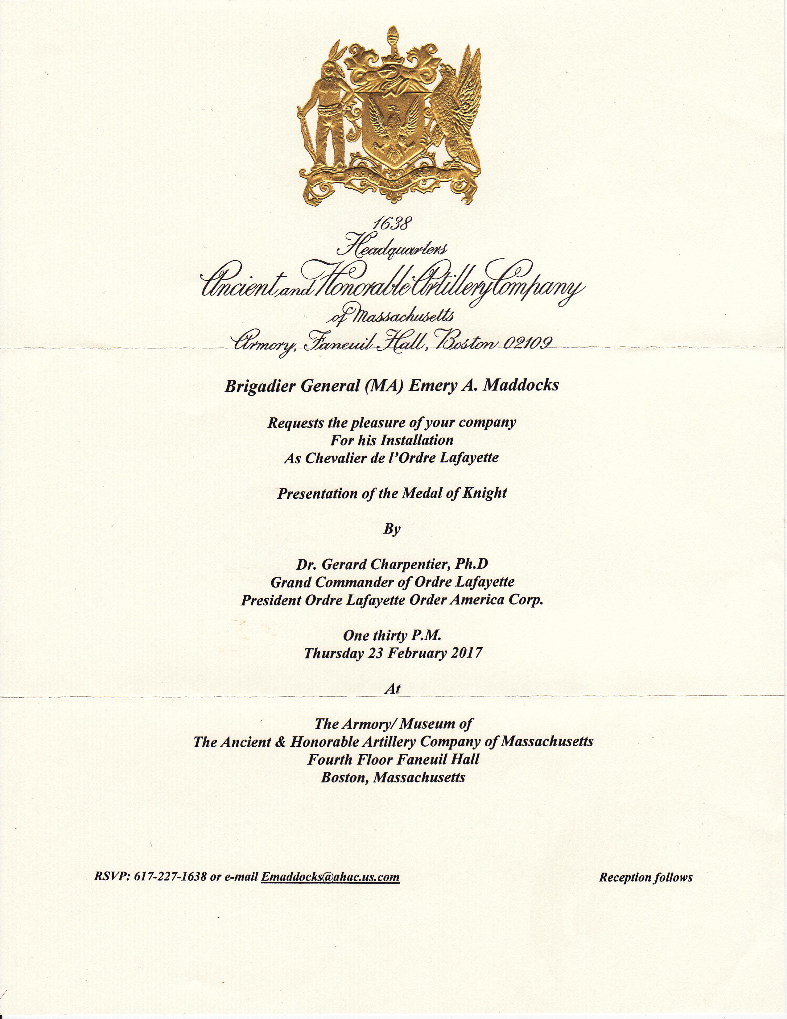 0- Ceremony Maddocks - Invitation Feb 23, 2017