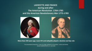 Lafayette and France Rev am