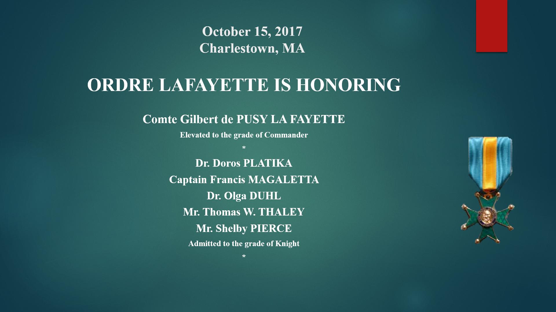 OL- Honoring - Charlestown 15 oct 2017